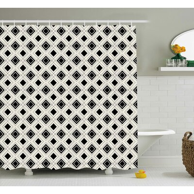 Square Dots Shower Curtain Size: 69 H x 70 W