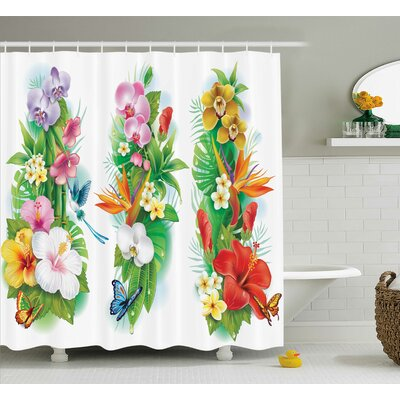 St. Augustine Flower House Decor Shower Curtain Size: 69 H x 75 W