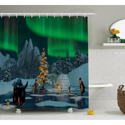 Frozen Lake Shower Curtain Size: 69 H x 75 W