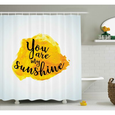 Quotes Decor Shower Curtain Size: 69 H x 70 W