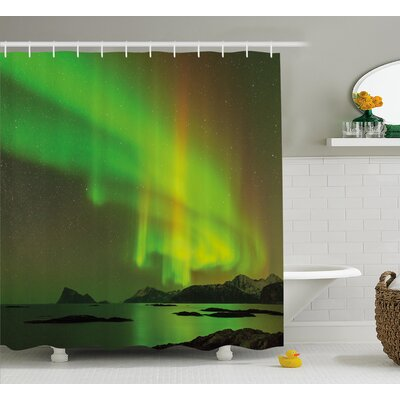 Universe Sky Shower Curtain Size: 69 H x 84 W