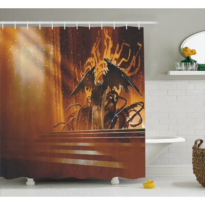 Dark Fiction Throne Decor Shower Curtain Size: 69 H x 84 W