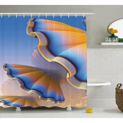 Gradient Shell Shower Curtain Size: 69 H x 75 W