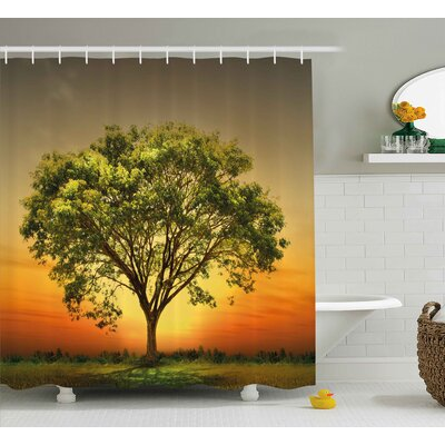 Landscape Shower Curtain Size: 69 H x 70 W