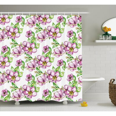 Retro Sun Shower Curtain Size: 69 H x 84 W