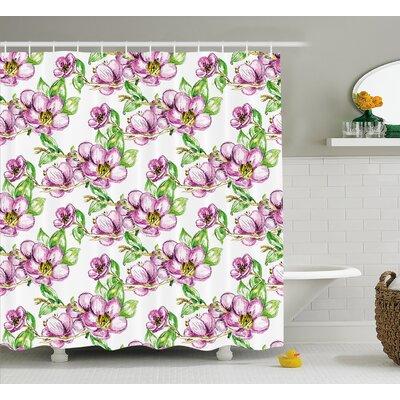 Retro Sun Shower Curtain Size: 69 H x 70 W