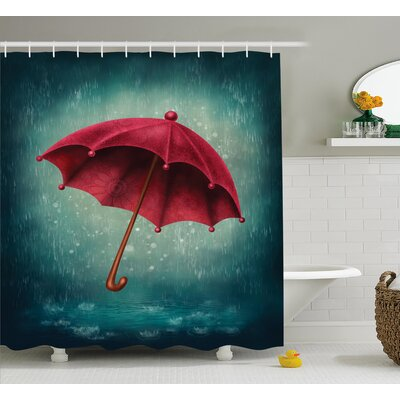 Umbrella Decor Shower Curtain Size: 69 H x 70 W