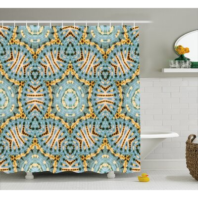 Tribal Pattern Decor Shower Curtain Size: 69 H x 70 W