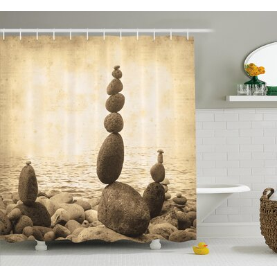 Big and Small Rocks Shower Curtain Size: 69 H x 75 W