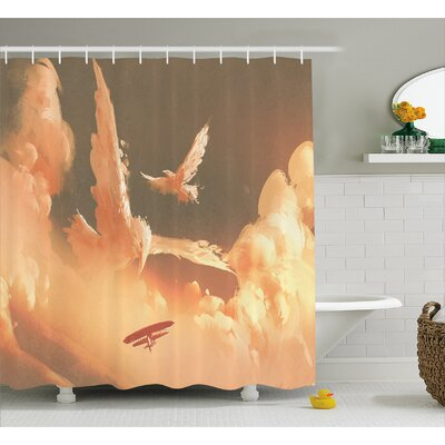 Phoenix Decor Shower Curtain Size: 69 H x 70 W