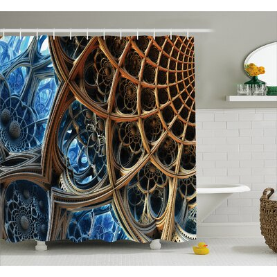 Dimensional Shower Curtain Size: 69 H x 84 W