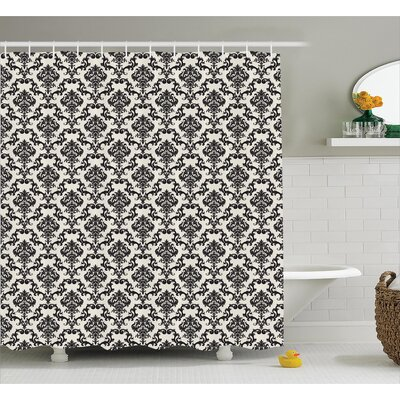 Floral Leaves Shower Curtain Size: 69 H x 75 W