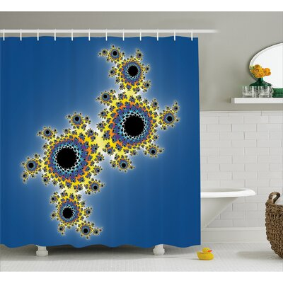Rotary Lined Shower Curtain Size: 69 H x 84 W