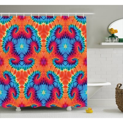 Decor Fabric Shower Curtain Size: 69 H x 84 W