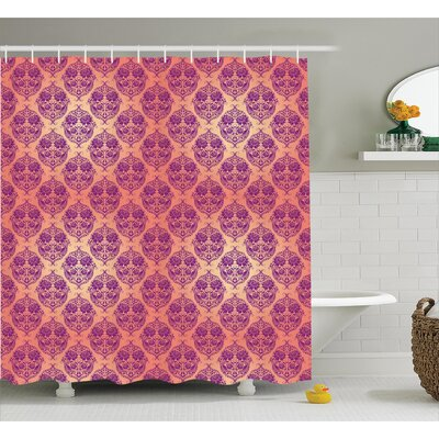 Flower Shower Curtain Size: 69 H x 75 W