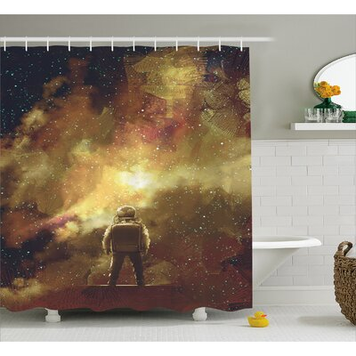 Standing Boy Decor Shower Curtain Size: 69 H x 75 W