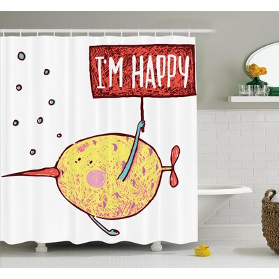 Im Happy Decor Shower Curtain Size: 69 H x 70 W