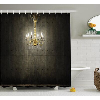 Classic Golden Decor Shower Curtain Size: 69 H x 84 W