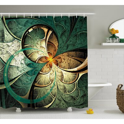 Surreal Flowers Shower Curtain Size: 69 H x 70 W
