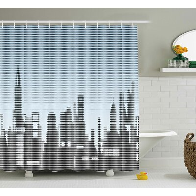 Skyline Shower Curtain Size: 69 H x 75 W