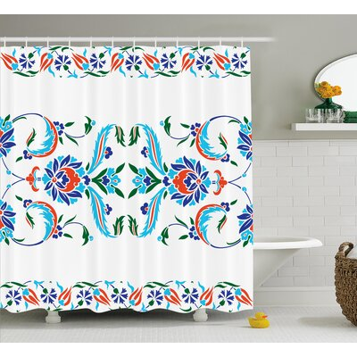 Imala House Decor Shower Curtain Size: 69 H x 75 W