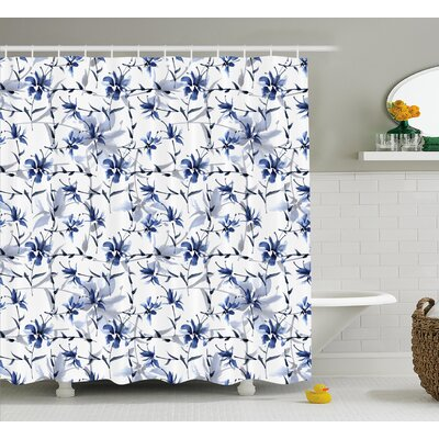 Gracie Decor Shower Curtain Size: 69 H x 75 W