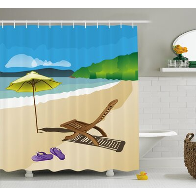 Summer Shower Curtain Size: 69 H x 75 W