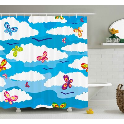 Olwanda Spring Shower Curtain Size: 69 H x 70 W
