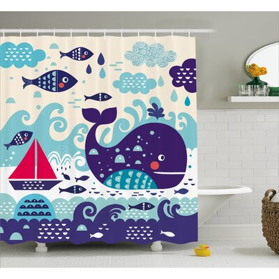 Ganley Marine Traffic Decor Shower Curtain Size: 69 H x 70 W