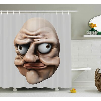 Gestures Ugly Decor Shower Curtain Size: 69 H x 75 W