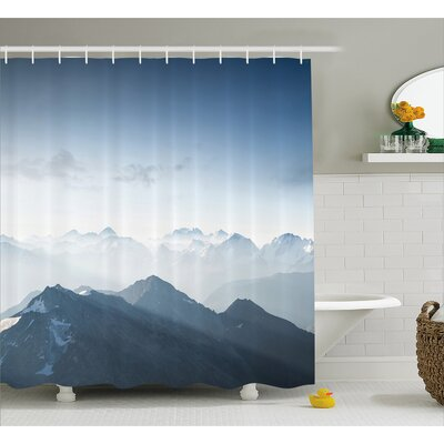 Fog Morning in Rock Mountain Decor Shower Curtain Size: 69 H x 84 W