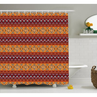 Native American Decor Shower Curtain Size: 69 H x 75 W