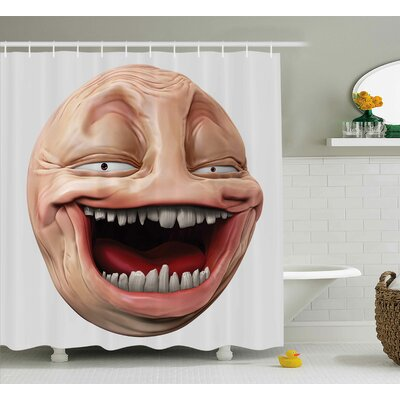 Meme Laughing Decor Shower Curtain Size: 69 H x 70 W