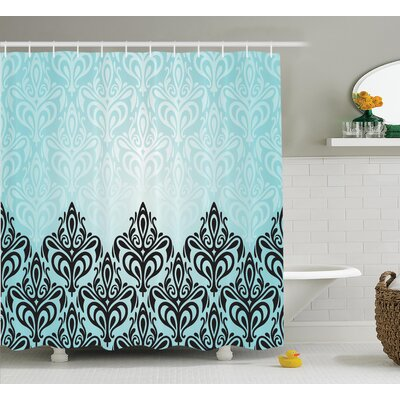 Symmetric Lines Shower Curtain Size: 69 H x 70 W