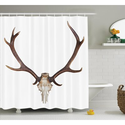 Bone Horn Shower Curtain Size: 69 H x 70 W