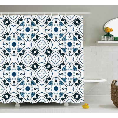 Fabric Decor Shower Curtain with 12 hooks Size: 69 H x 75 W