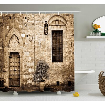 Tuscany Decor Shower Curtain Size: 69 H x 75 W
