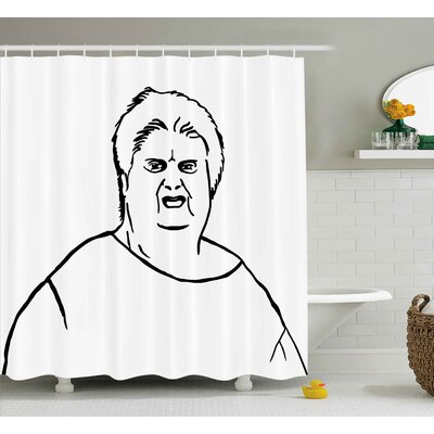 Angry Facial Decor Shower Curtain Size: 69 H x 70 W