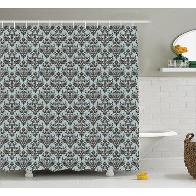 Modular Leaves Shower Curtain Size: 69 H x 84 W
