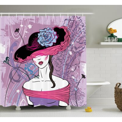 Noble Lady Decor Shower Curtain Size: 69 H x 84 W