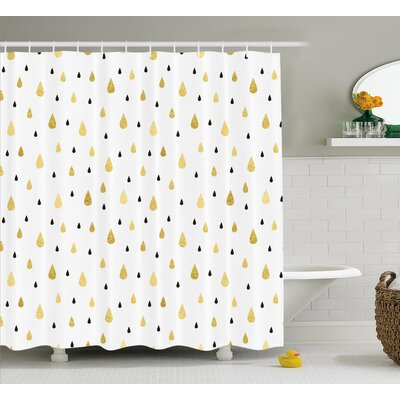 Teardrop Decor Shower Curtain Size: 69 H x 75 W