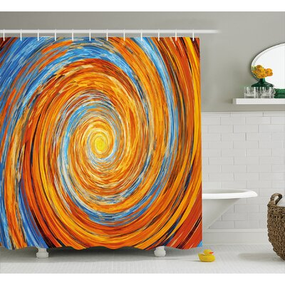 Spiral Rotary Shower Curtain Size: 69 H x 75 W