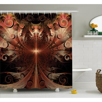Heraldic Ornate Shower Curtain Size: 69 H x 75 W