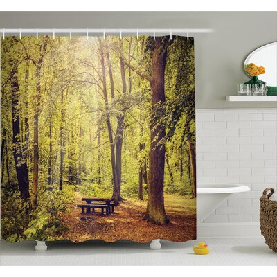 Clovis Into the Forest Decor Shower Curtain Size: 69 H x 84 W