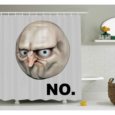 Motion Angry Decor Shower Curtain Size: 69 H x 84 W