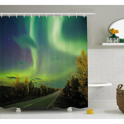 Highway Road Shower Curtain Size: 69 H x 75 W