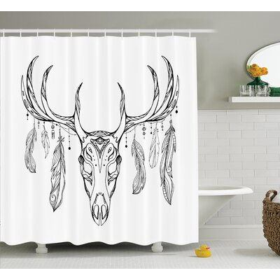 Antlers Shower Curtain Size: 69 H x 70 W