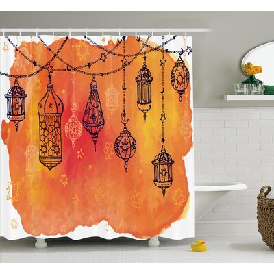 Traditional Shower Curtain Size: 69 H x 75 W