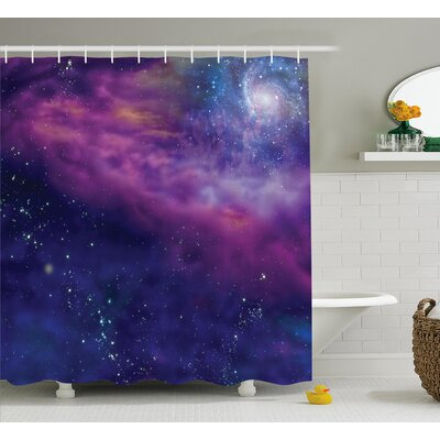 Star Clusters  Decor Shower Curtain Size: 69 H x 70 W