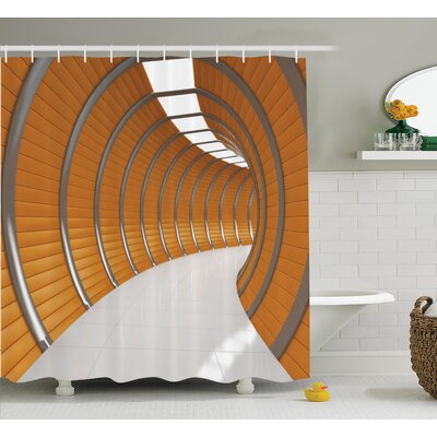 Tunnel  Decor Shower Curtain Size: 69 H x 75 W